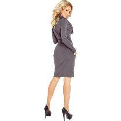 Silvia Sukienka z GOLFEM - grube punto - SZARY GRAFIT. Niebieskie sukienki hiszpanki numoco, s, z golfem. Za 145,00 zł.