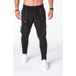 SPODNIE MĘSKIE JOGGERY P671 - CZARNE. Czarne joggery męskie Ombre Clothing. Za 89,00 zł.