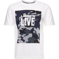 Lacoste LIVE Tshirt basic blanc/moulin. Białe koszulki polo marki Lacoste LIVE, m, z bawełny. Za 239,00 zł.