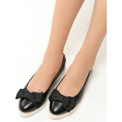 Baleriny damskie lakierowane: Czarne Baleriny Cat's Claw