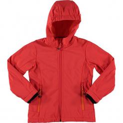 Kurtka softshellowa w kolorze czerwonym. Czerwone kurtki dziewczęce marki Reserved, z kapturem. W wyprzedaży za 97,95 zł.