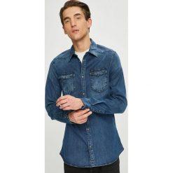 Guess Jeans - Koszula. Szare koszule męskie jeansowe Guess Jeans, l, z aplikacjami, z klasycznym kołnierzykiem, z długim rękawem. Za 399,90 zł.