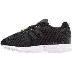 Adidas Originals ZX FLUX  Tenisówki i Trampki core black/white. Czarne trampki chłopięce marki adidas Originals, z materiału. W wyprzedaży za 174,30 zł.
