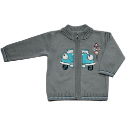 EKO Sweter Chłopięcy Z Autem 98 Szary. Szare swetry chłopięce EKO, z bawełny. Za 93,00 zł.