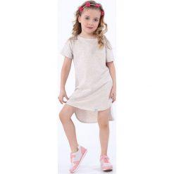 Sukienka dziewczęca z dłuższym tyłem beżowa NDZ8207. Szare sukienki dziewczęce marki Fasardi. Za 49,00 zł.