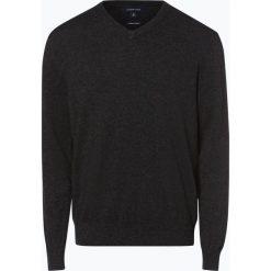 Andrew James - Sweter męski z dodatkiem kaszmiru, szary. Szare swetry klasyczne męskie Andrew James, m, z kaszmiru, z dekoltem w serek. Za 229,95 zł.