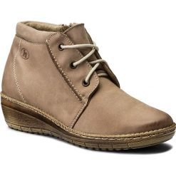 Botki HELIOS - 518-2 Beż. Brązowe buty zimowe damskie Helios, z nubiku, na obcasie. W wyprzedaży za 199,00 zł.