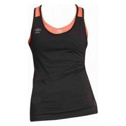 Umbro Koszulka Tank Top Womens Black/Fiery Coral S. Niebieskie topy sportowe damskie marki DOMYOS, xs, z bawełny. W wyprzedaży za 39,00 zł.