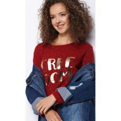 Czerwona Bluzka Sure Win. Czerwone bluzki asymetryczne Born2be, l, z długim rękawem. Za 34,99 zł.