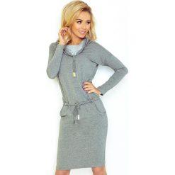 Chantal Sukienka sportowa z golfem - ŚREDNI SZARY - pętelka. Szare sukienki sportowe marki numoco, z golfem, sportowe. Za 119,99 zł.