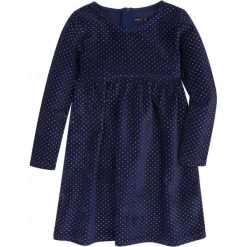 Sukienki dziewczęce: Welurowa sukienka z odcięciem dla dziewczynki 9-13 lat