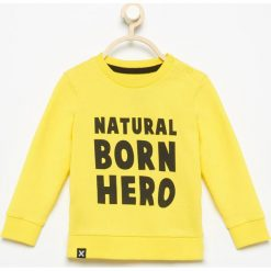 Bluza Natural born hero - Żółty. Żółte bluzy niemowlęce Reserved. Za 29,99 zł.