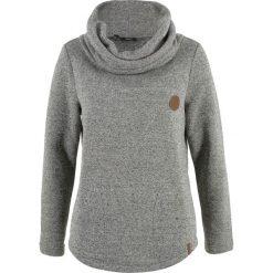 Bluzy rozpinane damskie: Bluza bonprix antracytowy melanż
