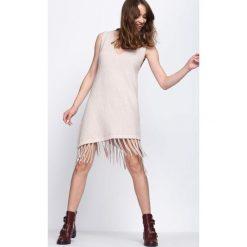 Beżowa Sukienka Have Some Love. Brązowe sukienki mini marki Born2be, xl, oversize. Za 44,99 zł.