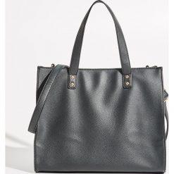 Shopper bag damskie: Torba Shopper - Czarny
