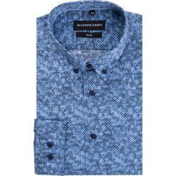 Koszula SIMONE KDWS000222. Szare koszule męskie na spinki Giacomo Conti, na jesień, m, z bawełny. Za 199,00 zł.