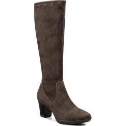 Kozaki MARCO TOZZI - 2-25513-29 Pepper 324. Szare buty zimowe damskie marki Marco Tozzi, z materiału, na obcasie. W wyprzedaży za 129,00 zł.