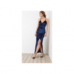 Sukienka LA Maxi. Niebieskie długie sukienki Flawdress, xs, eleganckie. Za 229,00 zł.