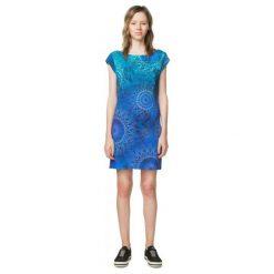 Desigual Sukienka Damska Corbin Xs Niebieski. Niebieskie sukienki na komunię marki Desigual, na co dzień, xs, w kolorowe wzory, z dekoltem na plecach. W wyprzedaży za 259,00 zł.