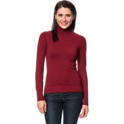 Golfy damskie: Sweter w kolorze bordowym