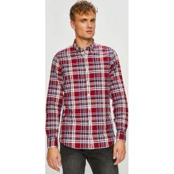 Tommy Hilfiger - Koszula. Szare koszule męskie na spinki marki TOMMY HILFIGER, m, w kratkę, z bawełny, button down, z długim rękawem. Za 299,90 zł.