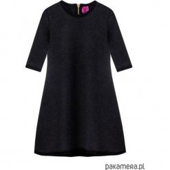 Sukienka dresowa dziecięca typu klosz grafit. Różowe sukienki dziewczęce marki Pakamera, z długim rękawem, długie. Za 69,00 zł.