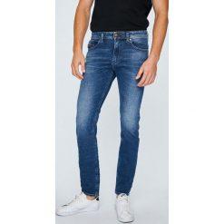 Diesel - Jeansy Thommer. Niebieskie jeansy męskie slim marki Diesel, z bawełny. W wyprzedaży za 579,90 zł.