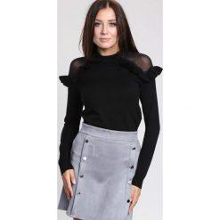 Czarny Sweter Angels Fringes. Czarne swetry klasyczne damskie other, na jesień, l. Za 89,99 zł.