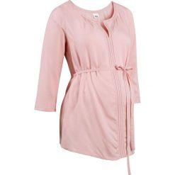 Bluzki, topy, tuniki: Tunika ciążowa z ażurowym haftem bonprix stary róż