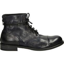 Botki męskie - T282 TEQ BLU. Czarne botki męskie marki Venezia, ze skóry. Za 299,00 zł.