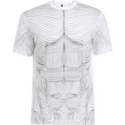 T-shirty męskie: Neil Barrett BLACKBARRETT TOPOGRAPHY Tshirt z nadrukiem white/black