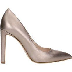Czółenka INGRID. Czerwone buty ślubne damskie Gino Rossi, ze skóry, na wysokim obcasie, na szpilce. Za 99,90 zł.