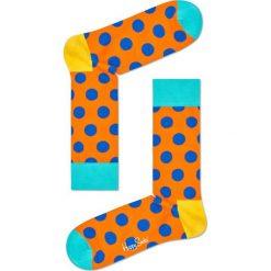 Happy Socks - Skarpety Big Dot. Pomarańczowe skarpetki męskie Happy Socks, z bawełny. Za 39,90 zł.