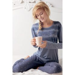 Piżamy damskie: Damska piżama Stars niebieska