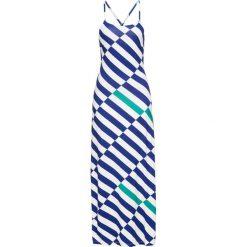 Sukienka w paski bonprix szmaragdowo-ciemnoniebieski. Niebieskie długie sukienki marki bonprix, na lato, w paski, z długim rękawem. Za 74,99 zł.