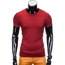 T-SHIRT MĘSKI BEZ NADRUKU S620 - BORDOWY. Zielone t-shirty męskie z nadrukiem marki Ombre Clothing, na zimę, m, z bawełny, z kapturem. Za 12,99 zł.