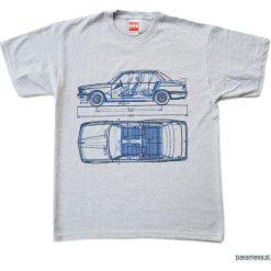 Koszulka BMW 3 GRAY tshirt. Szare t-shirty męskie Pakamera, m. Za 77,00 zł.