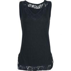Topy damskie: Black Premium by EMP Lace V-Neck Top Top damski czarny