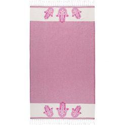 Chusta hammam w kolorze różowym - 180 x 100 cm. Czarne chusty damskie marki Hamamtowels, z bawełny. W wyprzedaży za 56,95 zł.