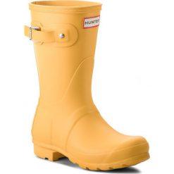 Kalosze HUNTER - Original Short WFS1000RMA Yellow. Żółte buty zimowe damskie Hunter, z kauczuku. W wyprzedaży za 349,00 zł.