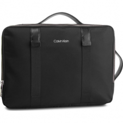 Plecak CALVIN KLEIN - Braced Convert Briefcase K50K42270 Black 001. Czarne plecaki męskie marki Calvin Klein, z materiału. Za 699,00 zł.