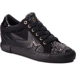 Sneakersy GUESS - FLPOT4 PEL12 BLACK. Czarne sneakersy damskie Guess, z materiału. Za 439,00 zł.