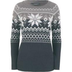 Sweter żakardowy bonprix czarny wzorzysty. Czarne swetry klasyczne damskie bonprix, z żakardem. Za 74,99 zł.
