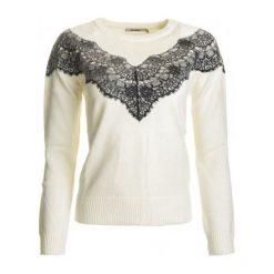 Swetry klasyczne damskie: Desigual Sweter Damski Saruka S Kremowy