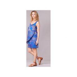 Sukienki krótkie Desigual  OFFOELA. Niebieskie sukienki mini Desigual, z krótkim rękawem. Za 279,30 zł.