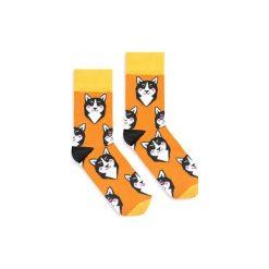 BananaSocks - skarpetki HUSKY. Brązowe skarpetki damskie marki Banana socks, z motywem zwierzęcym. Za 27,99 zł.