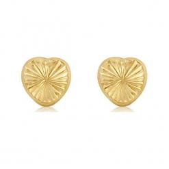 Złote kolczyki. Żółte kolczyki damskie Golden Moments, złote. W wyprzedaży za 99,95 zł.