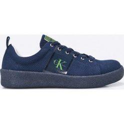 Calvin Klein Jeans - Tenisówki. Szare tenisówki męskie marki Calvin Klein Jeans, z jeansu, na sznurówki. W wyprzedaży za 299,90 zł.