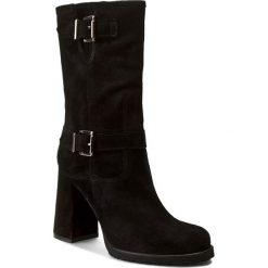 Buty zimowe damskie: Kozaki QUAZI - 102QU Czarny