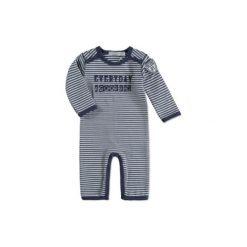 Dirkje  Boys Śpioszki steel blue - niebieski. Niebieskie pajacyki niemowlęce Dirkje, z bawełny. Za 55,00 zł.